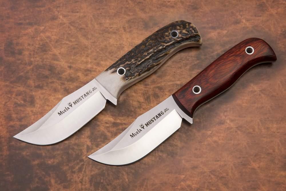 MUSTANG, nuevos modelos de cuchillo enterizos Muela, en acero acero MOVA (1.4116)